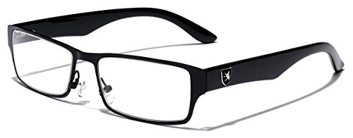 Men's Women's Rectangle Clear Lens Sunglasses RX Optical Eye Glasses -