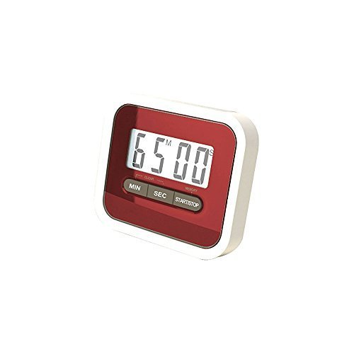 (WESTONETEK Digital LCD Kitchen Timer, Count UP Down Countdown Timer with Magnetic Clip and Stand for Cooking, Study, Homework, Facial Mask, Sport Exercise, Max to 99 Minutes 59 Seconds, Red)