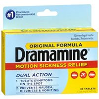 Dramamine Original Formula Tablets 36 ea (Pack of 4) by Dramamine