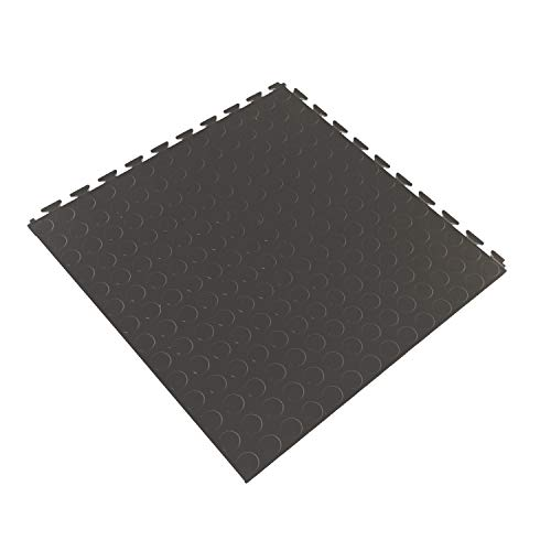IncStores Coin Flex Nitro Multi-Purpose Basement Garage Kitchen Flooring Tiles (Dark Grey) ()