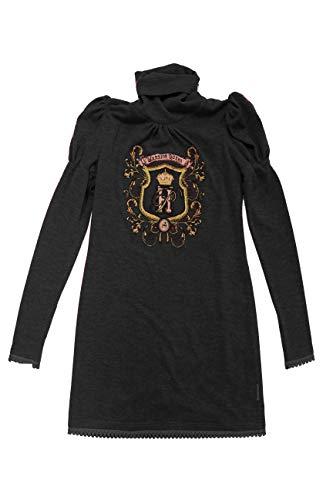 Negro Escudo Bordado Highly Con Preppy Para Mujer Vestido Punto De YXawznaU