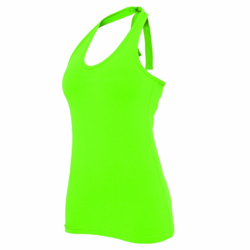 "Urban Classics Damen ""Ladies Neckholder Shirt"", Größe: L, Farbe: limegreen"