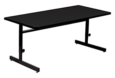 amazon com correll 24 x72 adjustable height training computer rh amazon com 30 inch high computer table grey high gloss computer table