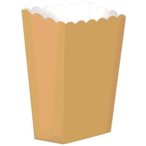 Strand Popcorn (Regal Large Popcorn Shaped Boxes Gold Party Favour and Treats, 9