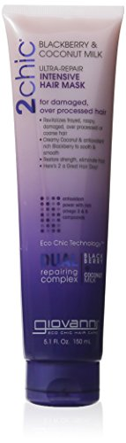 Giovanni 2chic Ultra Repair Hair Mask, Blackberry and Coconut Milk, 5 Fluid Ounce