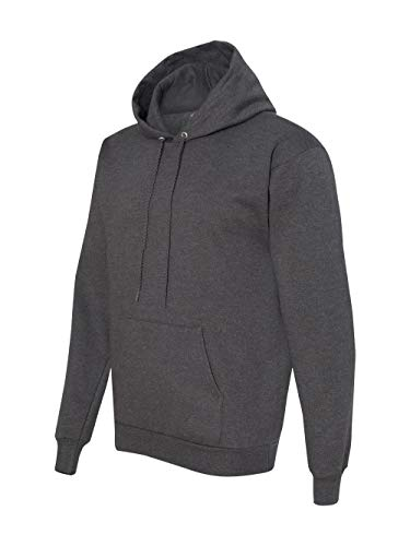Hanes Men's Pullover EcoSmart Fleece Hooded Sweatshirt, Charcoal Heather, 4X Large (Zippered Hooded Sweatshirt Men)