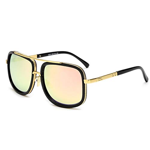 Oversized Men mach one Sunglasses men luxury brand Women Sun Glasses Square Male retro de sol female sunglasses for men women,JY1828 C5 Pink