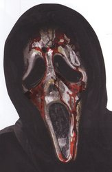 Zombie Ghost Face Bleeding Costumes (Ghost Face Bleeding Zombie Mask Costume Item - Funworld)