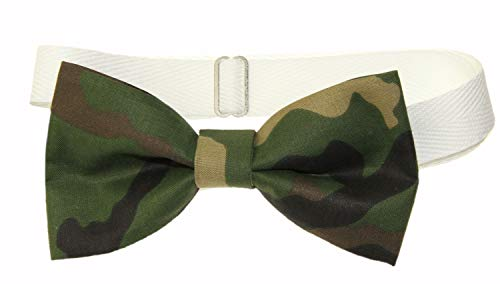 Camouflage Bow Tie - Men's Camouflage Pre-Tied Cotton Bow Tie on Adjustable Twill Strap