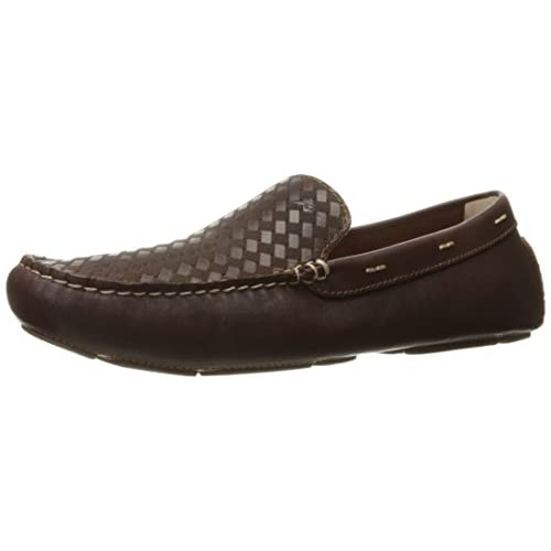 Tommy Bahama Men's Palmerston Laser Drive Slip-on Loafer, Dark Brown, 7 M US
