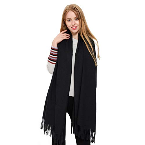 - Cashmere Pashmina Scarf and Shawl, Vimate Novelty Cashmere Wool Scarfs for Women/Girls/Men (Color (Black))
