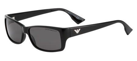 ebe7f859 Emporio Armani EA 9619/S D28R6 Shiny Black Unisex Sunglasses: Amazon ...
