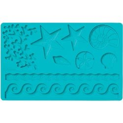 Bulk Buy: Wilton (3-Pack) Fondant & Gum Paste Silicone Mold 5.7in. x 10.6in. Sea Life W409-25-2552