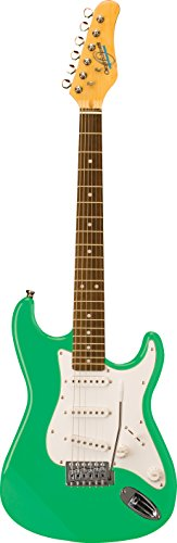 Oscar Schmidt 6 String Double Cutaway 3/4 Size Electric Guitar. Surf Green, (OS-30-SFG-A)