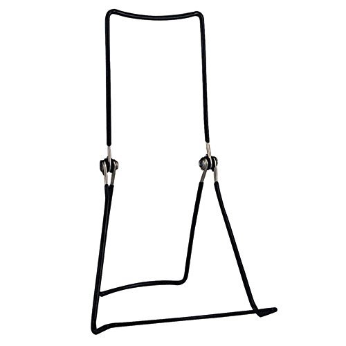 """GIBSON HOLDERS DCWB Adjustable Wire Display Easel, 5.5"""" W x 8.75"""" H with 1.5"""" Display Ledge, Black, Pack of 6 from GIBSON HOLDERS"""