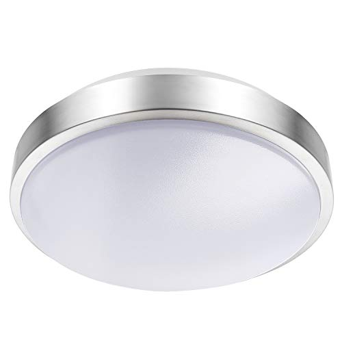 Lineway Motion Sensing Ceiling Light Indoor/Outdoor LED Flush Mount Light Fixture 15W 3000K Ceiling Lamp Radar Sensor for Bathroom Hallway Stairway Garage Porch, 100 Watt Equivalent (Warm White)