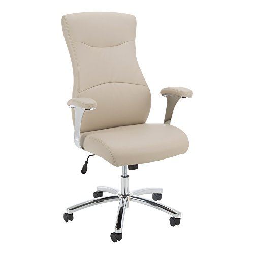 Norwood Commercial Furniture NOR-ORI3014CP-SO Hampton Series High-Back Hourglass Executive Chair, Champagne