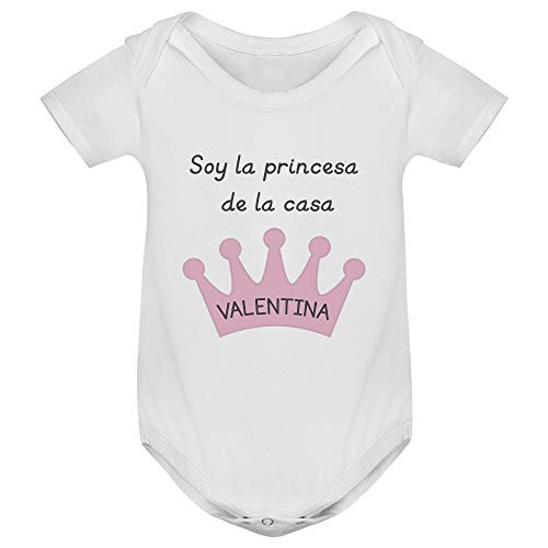 Body bebé manga corta corona personalizado, Regalo único y original ...