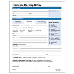employee warning notice template