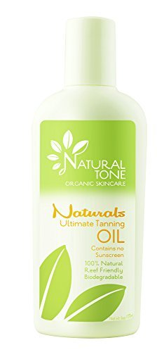 Naturals by Natural Tone. Ultimate Tanning Oil. 100% Natural. Contains No Sunscreen 6.0oz Bottle