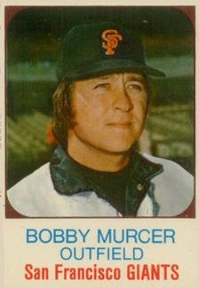 1975 hostess panels (Baseball) Card# 47 Bobby Murcer of the San Francisco Giants ExMt Condition - 1975 Hostess Baseball
