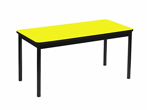 Correll LR2460-38 High Pressure Library Table, 24 x 60 x 29 in. - Yellow by Correll