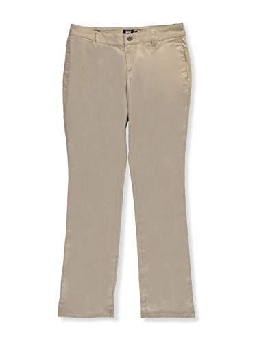 Lee Uniforms Big Girls' Junior Original Straight Leg Pants - khaki, junior 9