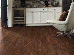 "Shaw Floors Classico Plank 5.83"" Luxury Vinyl Tile Flooring Rosso Sample"