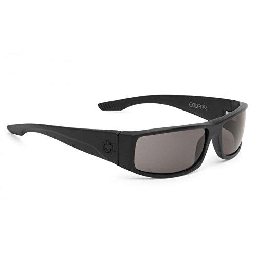 Spy Optic Cooper Sunglasses Matte Black with Gray Green polarized Lens + Spy - Optics Stickers Spy