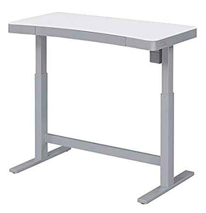 purchase cheap dc1df 8797e Bell'O Electric Adjustable Height Standing Desk, White