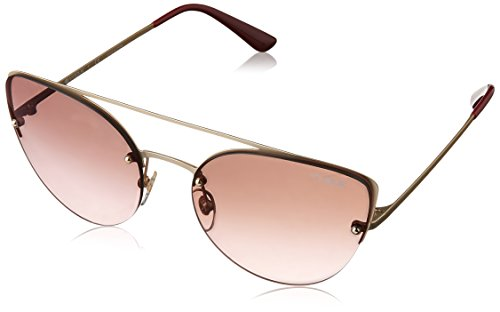 VOGUE Women's Metal Woman Non-Polarized Iridium Cateye Sunglasses, Matte Pale Gold, 57 - Glasses Vogue Cateye