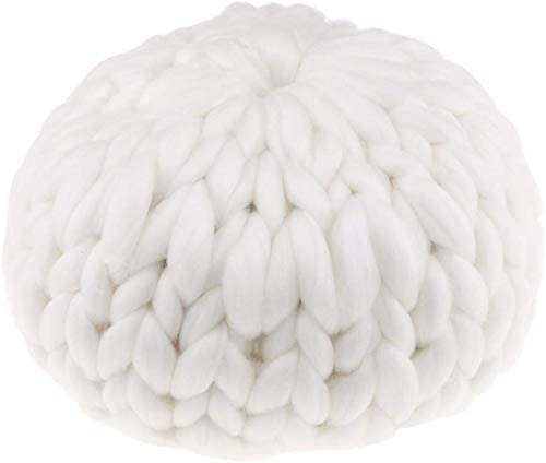 Taotenish Knot Pillow Wool Hand Knitted Cushion Toy Decorative Cushion Home Accessories - White