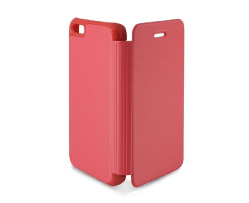 KSIX B0913FU81R Folio Case für Apple iPhone 5C rosa