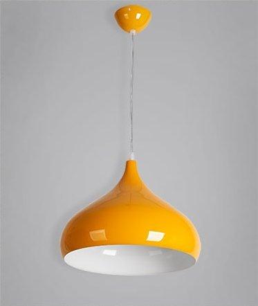 GS~LY Creative Retrò testa singola lampada lampadario ,giallo alluminio  Woodruff