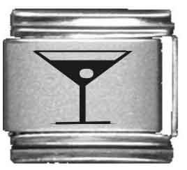 - Martini Glass Laser Italian Charm