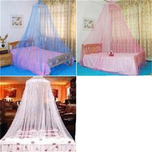 NUMBERNINE,Elgant Hung Dome Mosquito Nets For Double Bed Summer Polyester Mesh Fabric Home Textile Wholesale Bulk Accessories Supplies,mosquito nets (Pink)