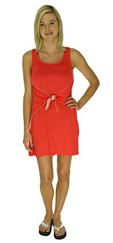 Tommy Hilfiger Bathing Suit Cover Up Dress Solid Color (Small, Tomato)