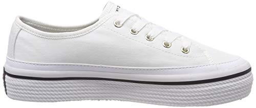 Sneaker Corporate Tommy Femme Blanc 100 Sneakers Basses Flatform Hilfiger white tUt5wq6