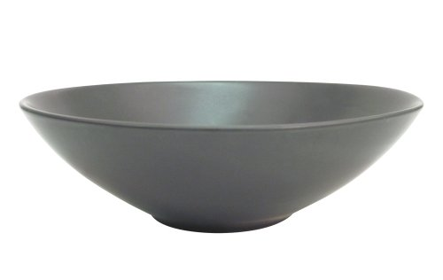 CAC China 666-15-BK Japanese Style 7-Inch Non Glare Glaze Black Soup Bowl, Box of 24 by CAC China