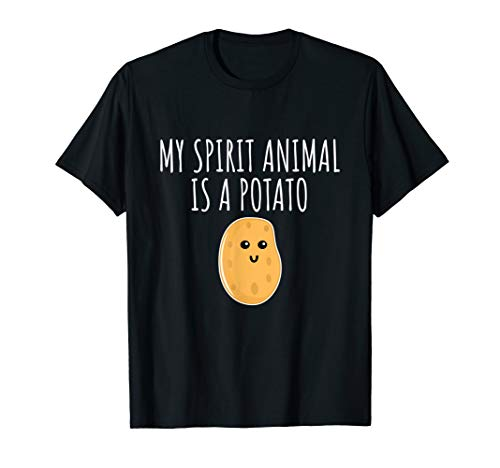 Girls Potato - My Spirit Animal Is A Potato Shirt - Cute Potato T-shirt