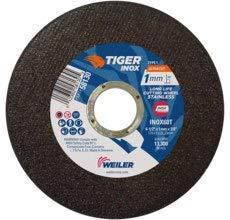 7//8 in Center Hole 1 MM Thickness - 60 GRIT Grade Straight WEILER Tiger INOX ULTRACUT Cutoff Wheel 58130 4 1//2 in Diameter Type 1