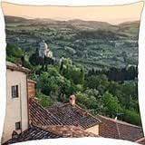 fields around a tuscan village - Throw Pillow Cover Case (18