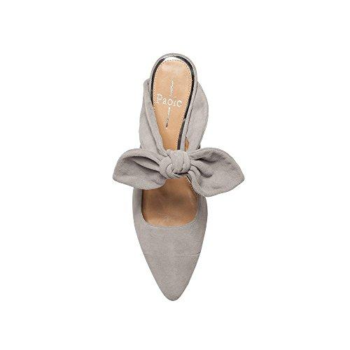 Linea Paolo Crissy | Womens Bow Adorned Heel In Camoscio Di Lana Scamosciata Con Tacco Cucito A Mano (new Spring)