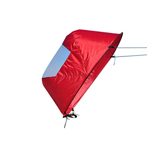 - ❤️Jonerytime❤️Foldable Downwind Wind Paddle Popup Board for Canoe Kayak Sail Accessories (Red)