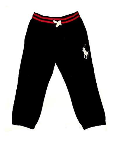 Polo Ralph Lauren Boy's Terry Sweatpants, Medium (10-12), Polo Black ()