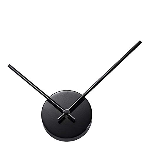 TiiM® Simple Elegant Glossy Aluminum Wall Clock, Black