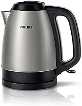 Philips 2200W Brushed Metal Kettle, Silver - HD9305