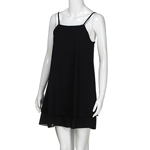 Suela Verano Harness Solid Mini Vestido Mujer by Ba Zha Hei, Vestidos Verano Mujer para Interior al Aire Libre Moda y cómodo Blusa Camisetas Mujer Vestido ...
