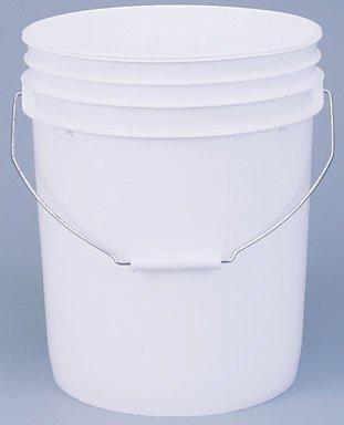 LEAKTITE 5GLSKD 5-Gallon lon White Plastic Pail ()