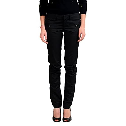 Discount Dsquared2 Women's Black Casual Pants US S IT 40 free shipping